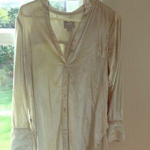Anthropologie Tops - Shiny velveteen shirt